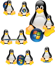 Logos Windows y Linux